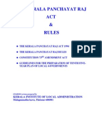 Kerala Panchayati Raj Act 1994 and Rules