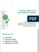 1_Política, Objetivos e Indicadores de Calidad