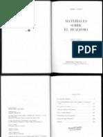 Lukacs, Georg - Materiales Sobre El Realismo