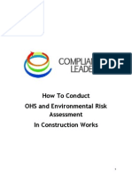 The Way To Conduct OHS and Environmental Chance Assessment in Construction Works