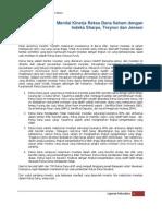 Menilai Kinerja Reksa Dana Saham Dengan Indeks Sharpe, Treynor Dan Jensen