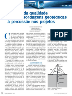 Avaliação da qualidade das sondagens geotécnicas à percussão nos projetos metroviários