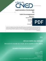 Sciences expérimentales et technologie CE1~ Guide