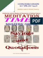 Meditation Times April 2012