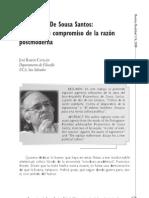 Boaventura De Sousa Santos:El ineludible compromiso de la razón postmoderna