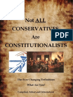 Not All Conservatives Are Constitutionalist