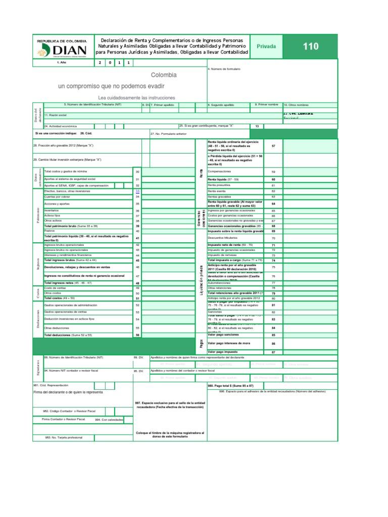 ANEXOS DECLARACIÓN DE RENTA F-1732 EXCEL