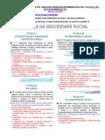 Lei 8212 - Lei orgânica da Seguridade Social