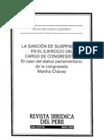 CDG - La sanción de suspensión disciplinaria - Caso Martha Chávez