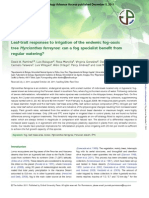 Leaf-trait responses to irrigation of the endemic fog-oasis tree Myrcianthes ferreyrae