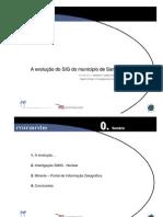 A evolução do SIG do município de Santa Maria da Feira