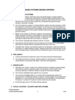 VCGS Storm Drainage Systems Design Criteria