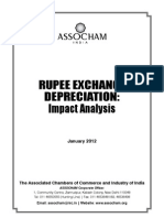 Rupee Exchange Depreciation Impact Analysis-2012