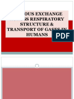 Gaseous Exchange Across Respiratory Structure & Transport Of