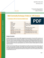 MCX-IPO Analysis 18.02