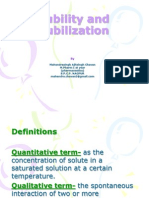 4979 Solubility and Solubilization