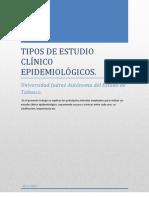 TIPOS DE ESTUDIO CLÍNICO EPIDEMIOLÓGICOS