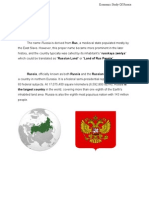 Economic Study of Russia
