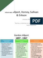 Teorías Alport, Horney, Sullivan & Erikson