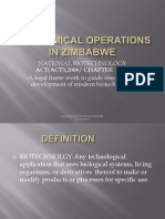 Biochemical Operations in Zimbabwe Power Point Presentation.