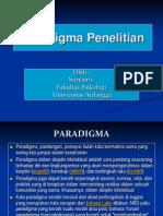 Kuliah 2 Mpd Paradigma Penelitian