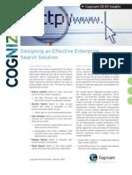 Designing an Effective Enterprise Search Solution
