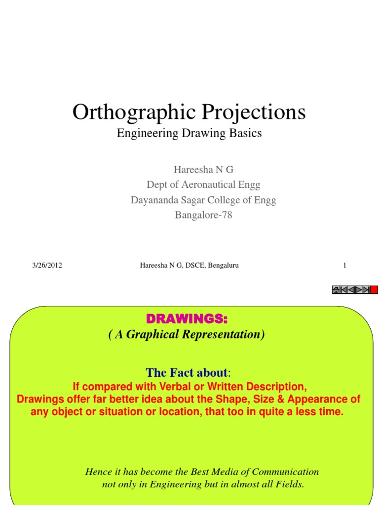 Orthographic Projections | Sphere | Drawing