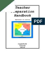 Teacher Education Handbook 20052006