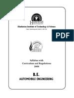 B. Tech. Automobile Engineering