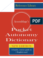 Autonomy Pocket Dictionary