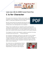 C is for Character