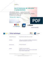 Intention de Vote Ipsos Vague14