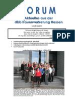 Forum dbb Frauen Hessen 04.2012