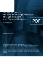 Survey of Demand for ADB Knowledge Products through Resident and Regional Missions