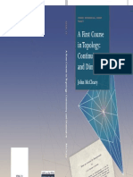a First Course in Topology Continuity and Dimension Student Mathematical Library