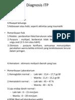 Diagnosis ITP