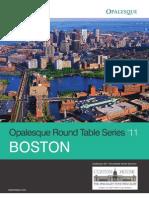 Boston 2011 Roundtable