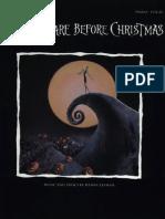 Danny Elfman - The Nightmare Before Christmas - Piano Sheet