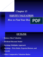 Chapter 13 Equity Valuation