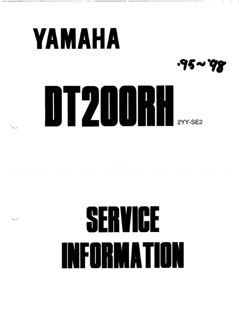 yamaha dt200r service rh scribd com Yamaha SR250 Yamaha SR250