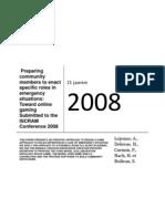 CORG ISCRAM 2008
