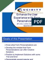 Form Personalization