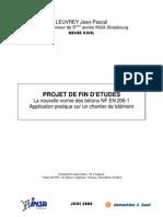 PFE. La nouvelle norme des bétons NF EN 206-1, Application pratique sur un chantier de bâtiment, LEUVREY INSA S