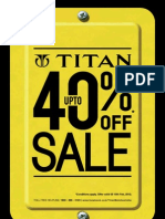 Upto 40 Off on a Wide Range of Titan Watches