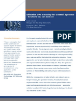 WP Effective OPC Security for Control Systems