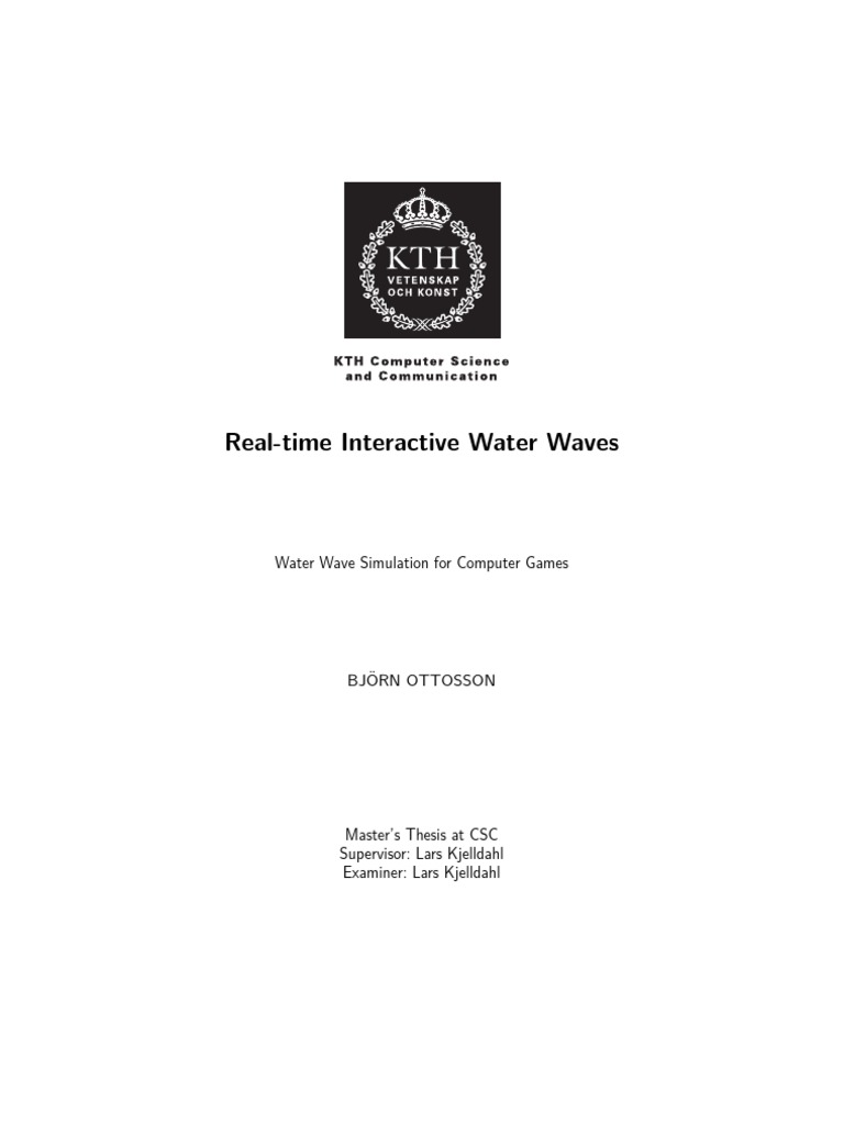 Real Time Interactive Water Waves | Longitud de onda | Ondas