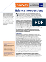 Energy Efficiency Interventions