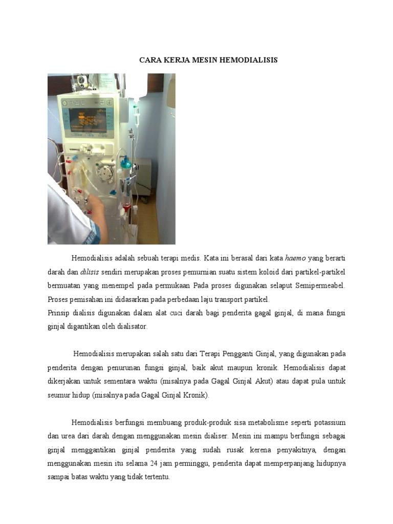 Cara Kerja Mesin Hemodialisis (2)
