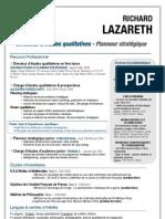 R. Lazareth Curriculum Vitae - D.E. / P.S - 2012