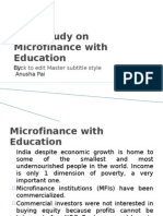 Case Study on Micro Finance With Education by anusha pai